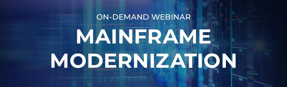 On-demand-Mainframe Modernization Webinar